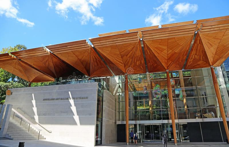 Entrata moderna ad Auckland Art Gallery Toi o Tamaki fotografia stock