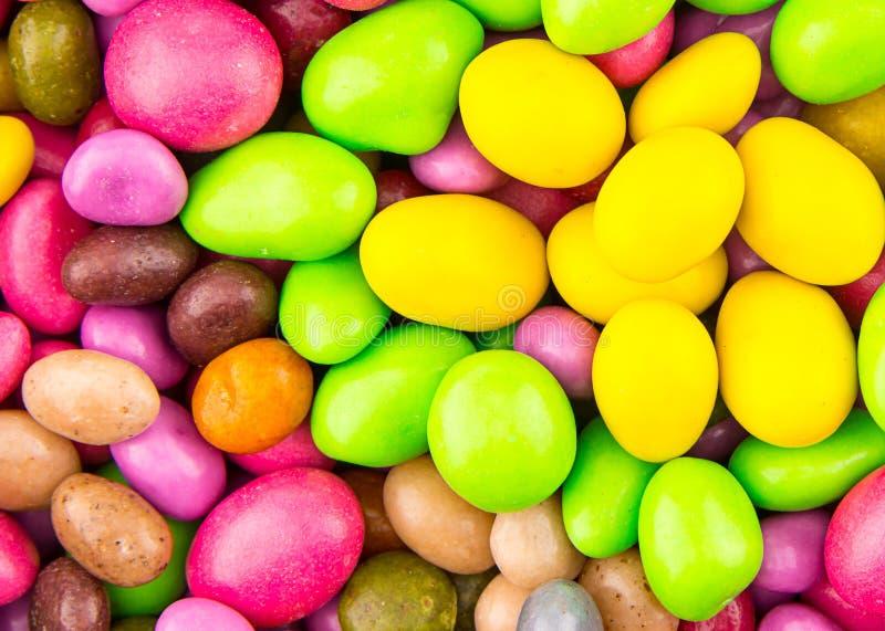 Entrave jaune de sucrerie de mélange de fond lumineux multicolore réglé de fond et verte rose joyeuse ? es image libre de droits