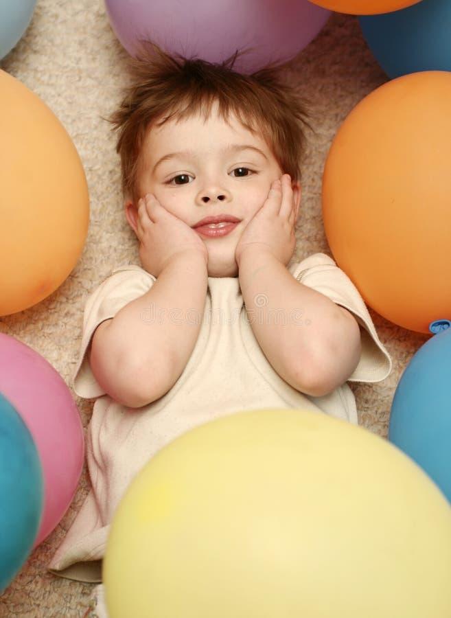 Entre balões foto de stock royalty free