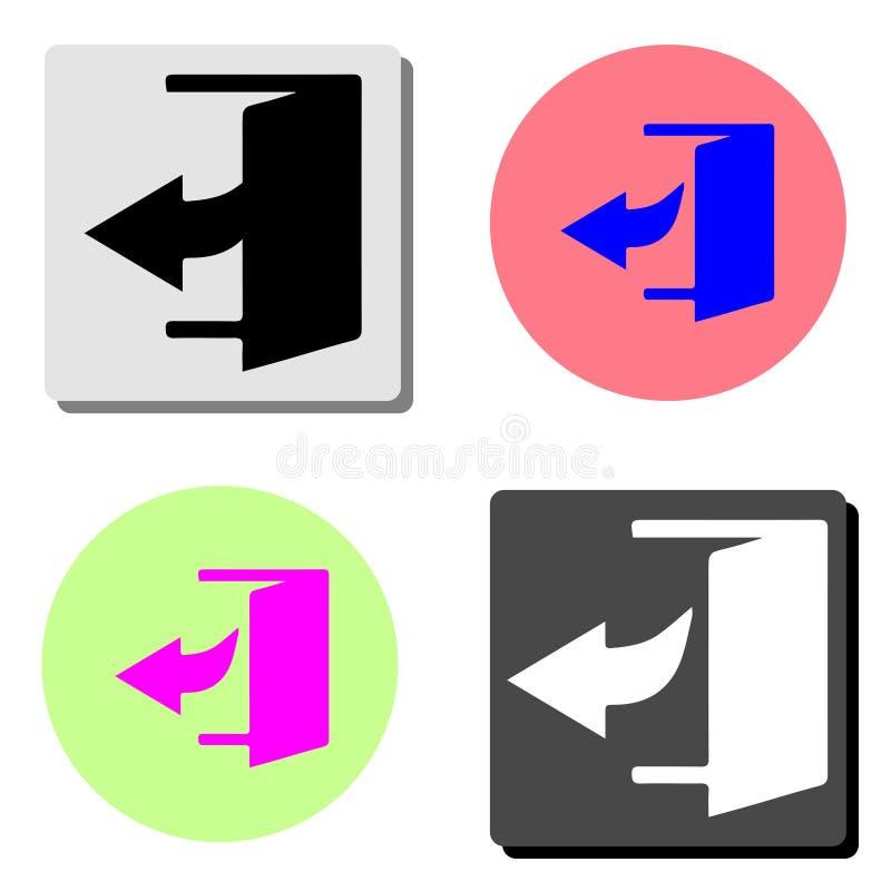 Entre en la puerta Icono plano del vector libre illustration