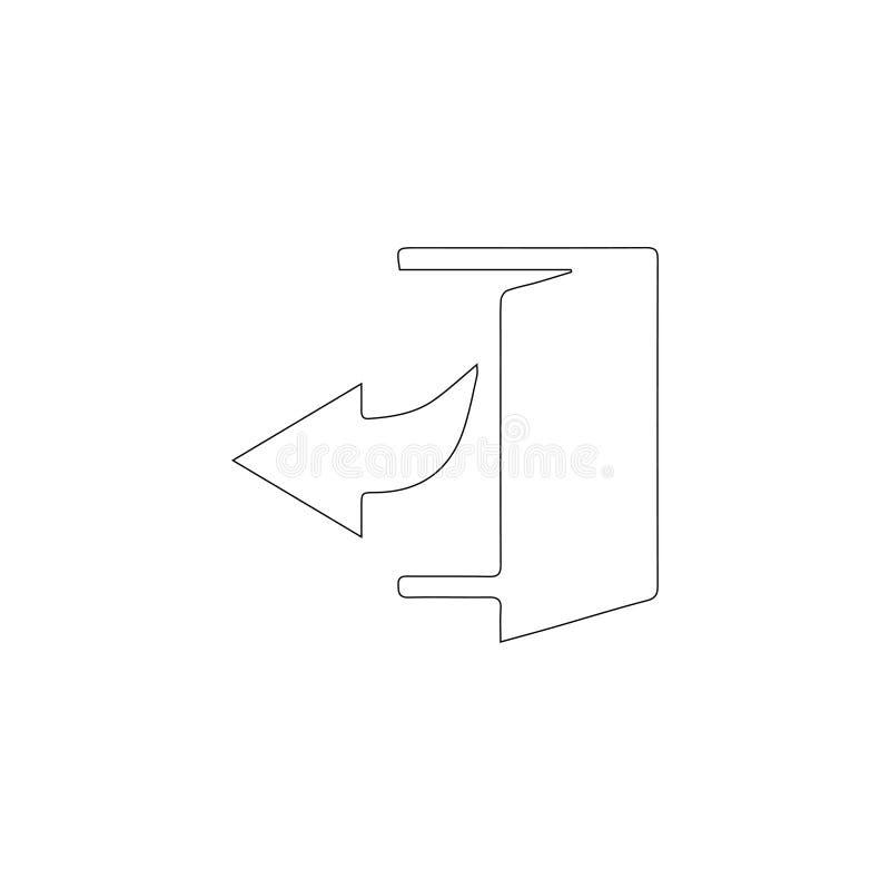 Entre en la puerta Icono plano del vector stock de ilustración