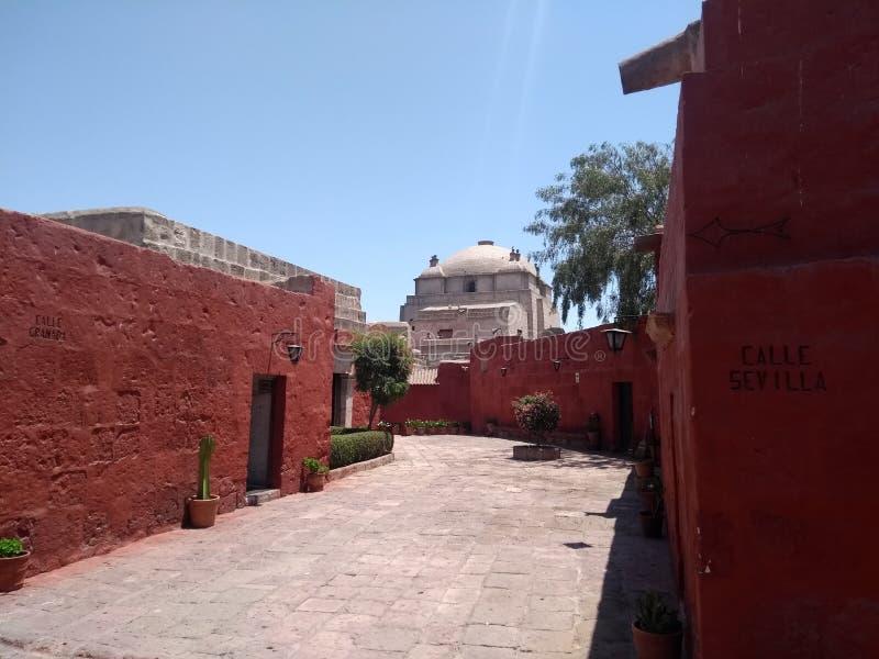 Entre Sevilla y Granada-Monasterio de Jultomten Catalina-Arequipa-Perú fotografering för bildbyråer