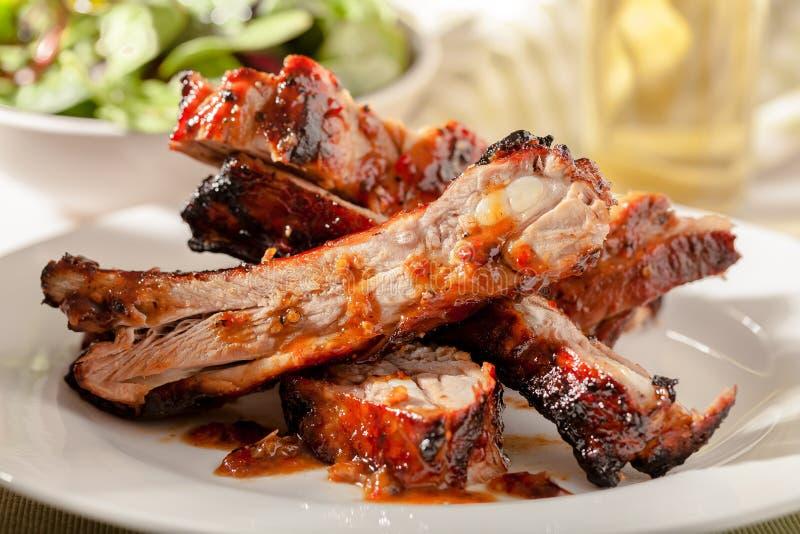 Entrecostos de porco da carne de porco foto de stock royalty free