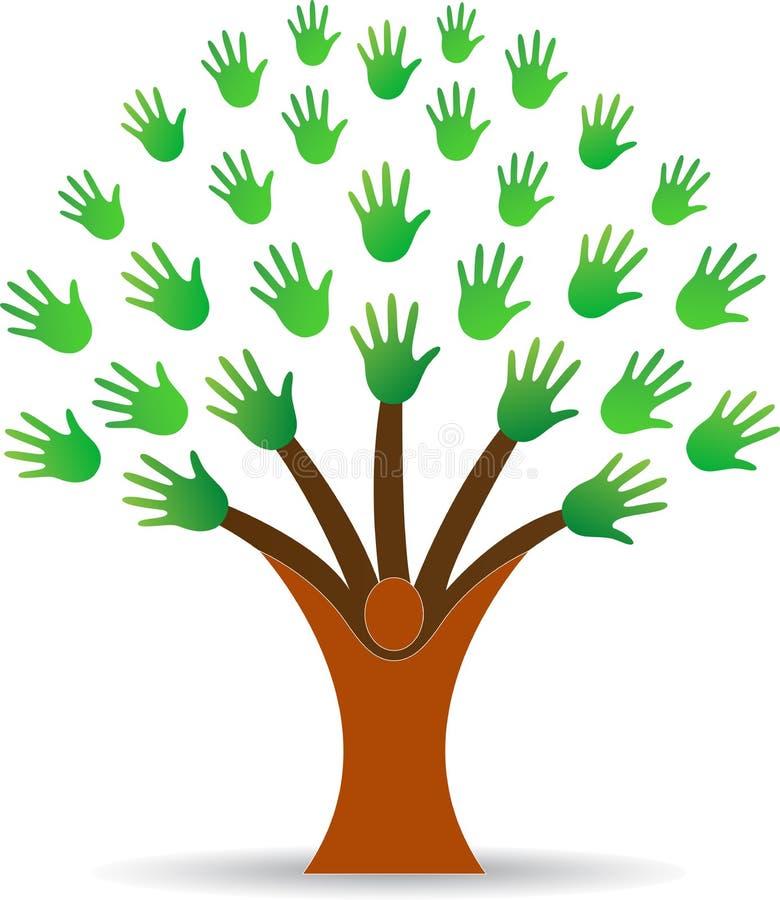 Entrega a árvore ilustração do vetor