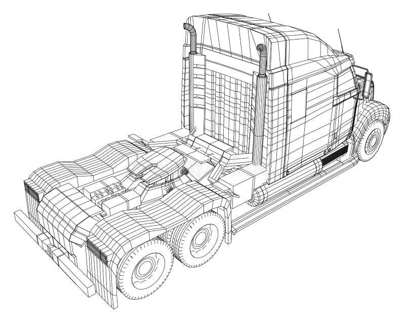 Entrega comercial Ilustração de seguimento de 3d Formato do vetor do EPS 10 isolado no branco ilustração do vetor
