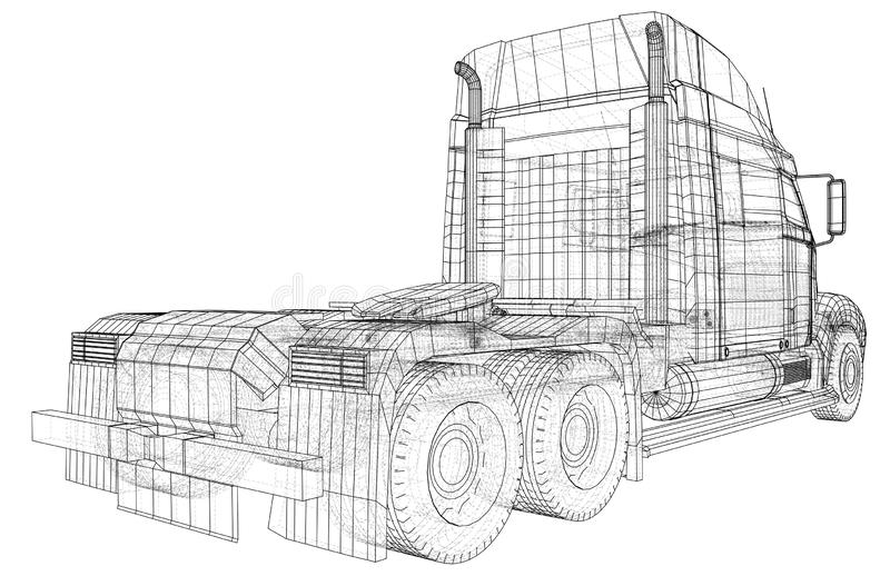 Entrega comercial Ilustração de seguimento de 3d Formato do vetor do EPS 10 isolado no branco ilustração royalty free