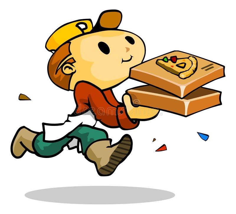 Entrega da pizza ilustração stock