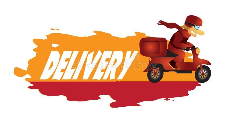 Entrega da pizza ilustração royalty free