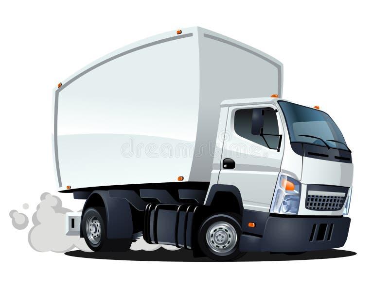Entrega de la historieta o camión del cargo ilustración del vector