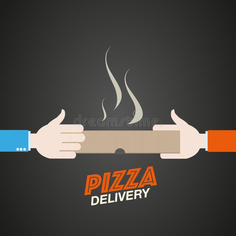 Entrega de la pizza stock de ilustración