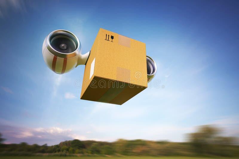 Entrega de mercancías por el aire imagen de archivo libre de regalías