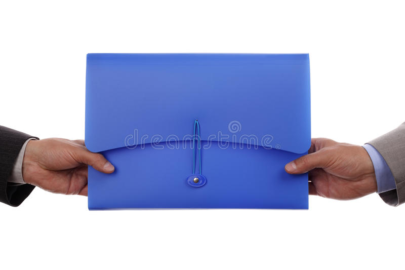 Entrega de papeleo foto de archivo libre de regalías