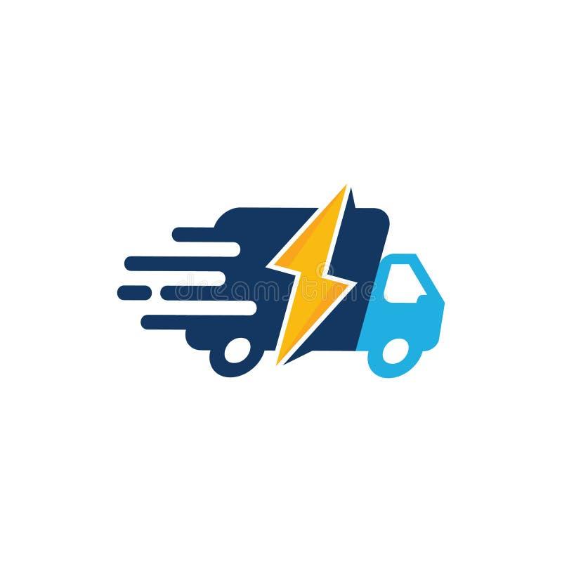 Entrega de poder Logo Icon Design stock de ilustración