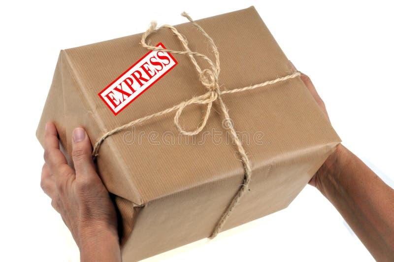 Entrega del paquete expreso imagenes de archivo