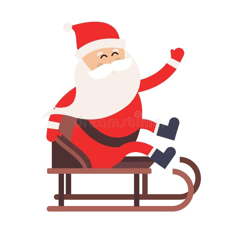Entrega del trineo del conductor de Santa Claus de la historieta libre illustration