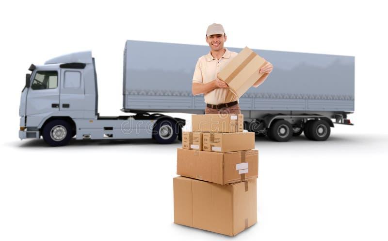 Entrega do caminhão fotografia de stock