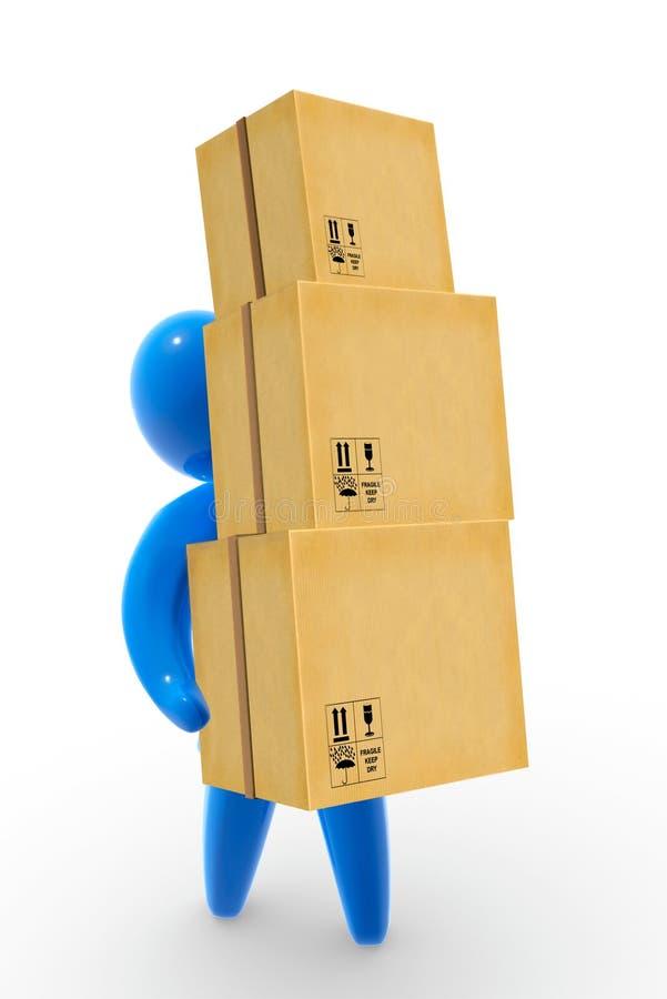 Entrega do pacote ilustração stock