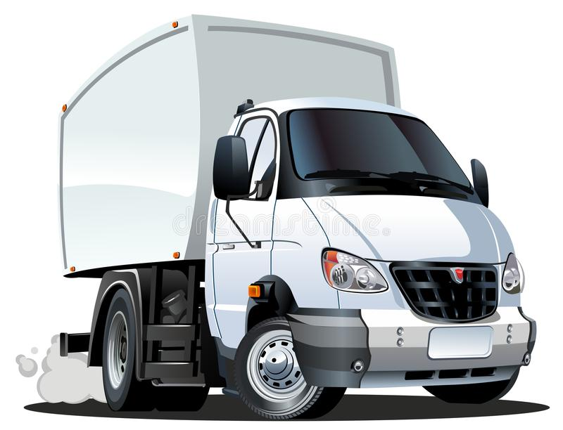 Entrega dos desenhos animados/caminhão da carga ilustração royalty free