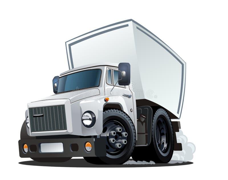 Entrega dos desenhos animados ou caminhão da carga ilustração stock