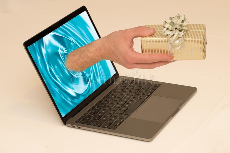 Entrega en línea imagen de archivo libre de regalías