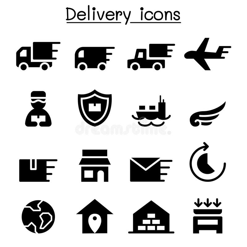 Entrega & grupo logístico do ícone ilustração do vetor