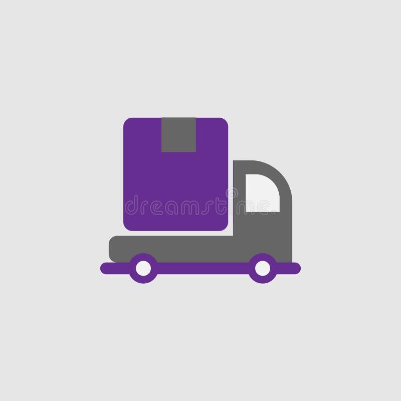 Entrega, icono de envío Elemento del icono de la entrega y de la logística para los apps móviles del concepto y de la web Entrega ilustración del vector