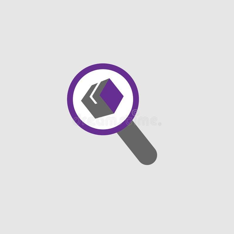 Entrega, icono del paquete Elemento del icono de la entrega y de la logística para los apps móviles del concepto y de la web La e libre illustration