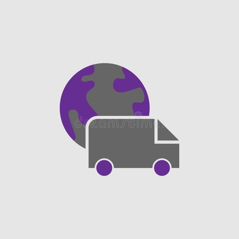 Entrega, icono internacional Elemento del icono de la entrega y de la logística para los apps móviles del concepto y de la web En ilustración del vector