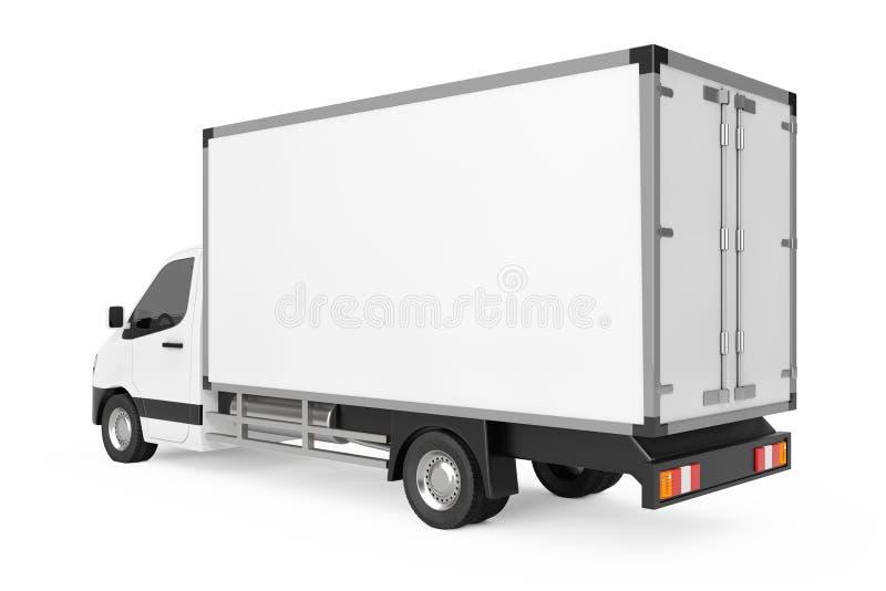 Entrega industrial comercial blanca Van Truck del cargo renderi 3D stock de ilustración