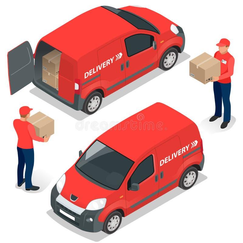 Entrega livre, entrega rápida, entrega a domicílio, transporte livre, 24 entregas da hora, conceito da entrega, entrega expressa ilustração do vetor