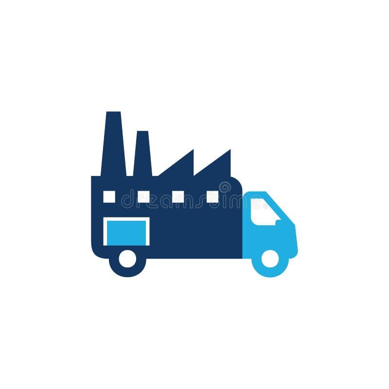 Entrega Logo Icon Design de la fábrica ilustración del vector