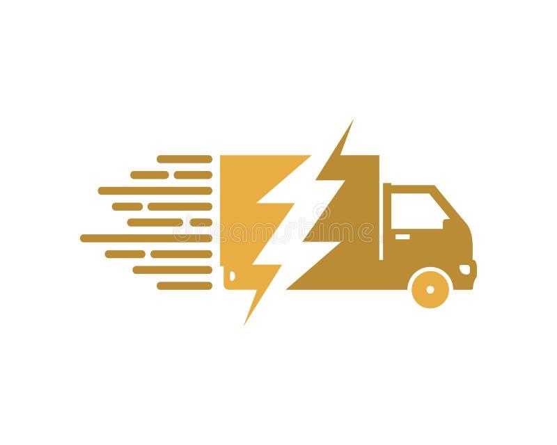 Entrega Logo Icon Design de la fuerza libre illustration
