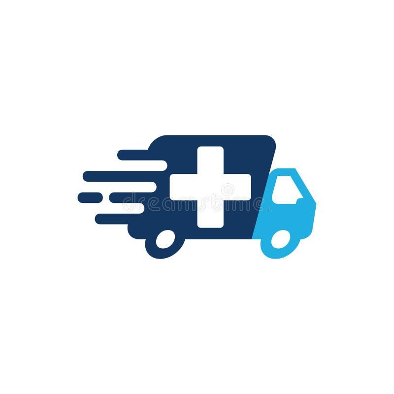 Entrega Logo Icon Design médico libre illustration