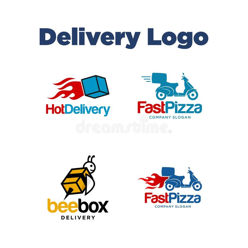 Entrega Logo Template ilustración del vector