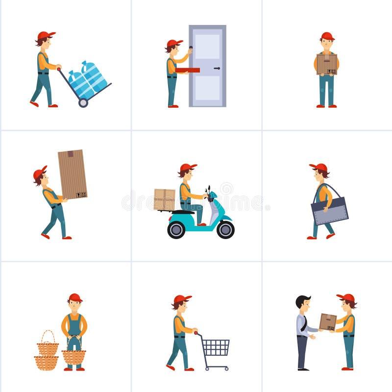 Entrega Person Freight Logistic Business Service ilustração royalty free