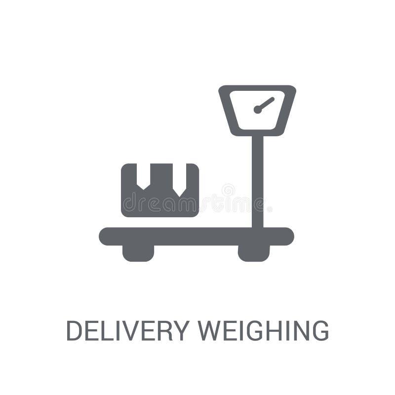 Entrega que pesa el icono  ilustración del vector