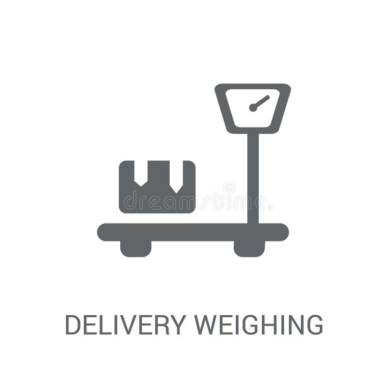 Entrega que pesa o ícone  ilustração do vetor