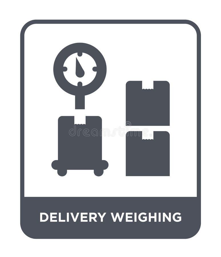 entrega que pesa o ícone no estilo na moda do projeto entrega que pesa o ícone isolado no fundo branco entrega que pesa o ícone d ilustração do vetor