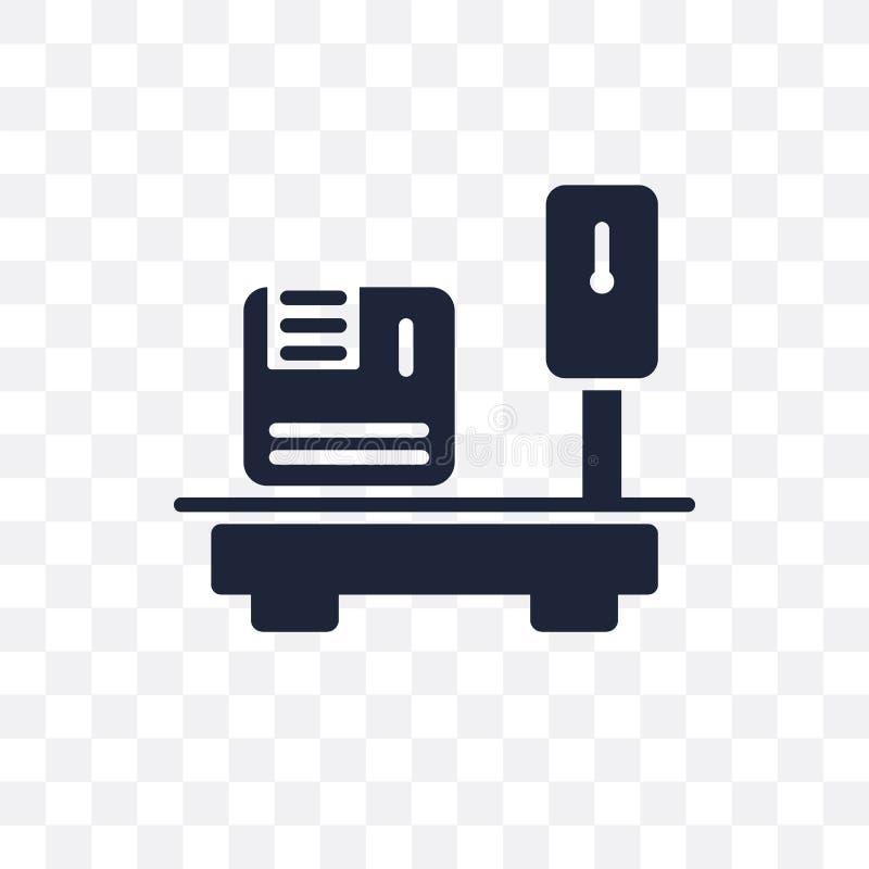 Entrega que pesa o ícone transparente Entrega que pesa o DES do símbolo ilustração royalty free