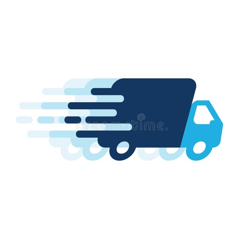 Entrega rápida Logo Icon Design stock de ilustración