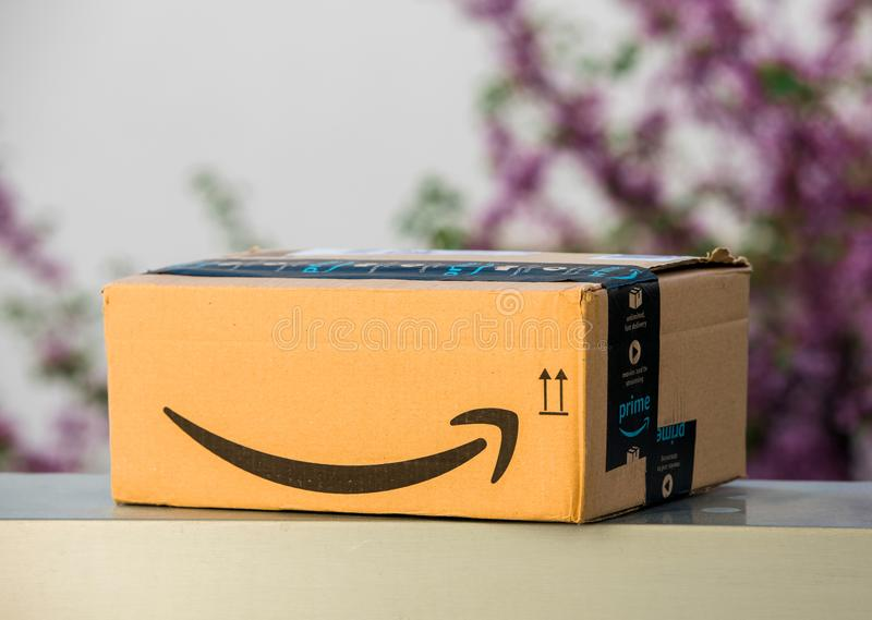Entrega rápida primera del Amazonas dejada al aire libre fotos de archivo libres de regalías