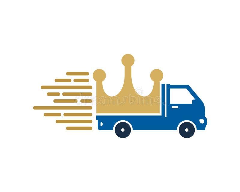 Entrega real Logo Icon Design stock de ilustración