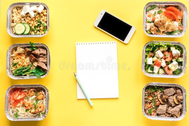 Entrega sana de la comida fotografía de archivo libre de regalías