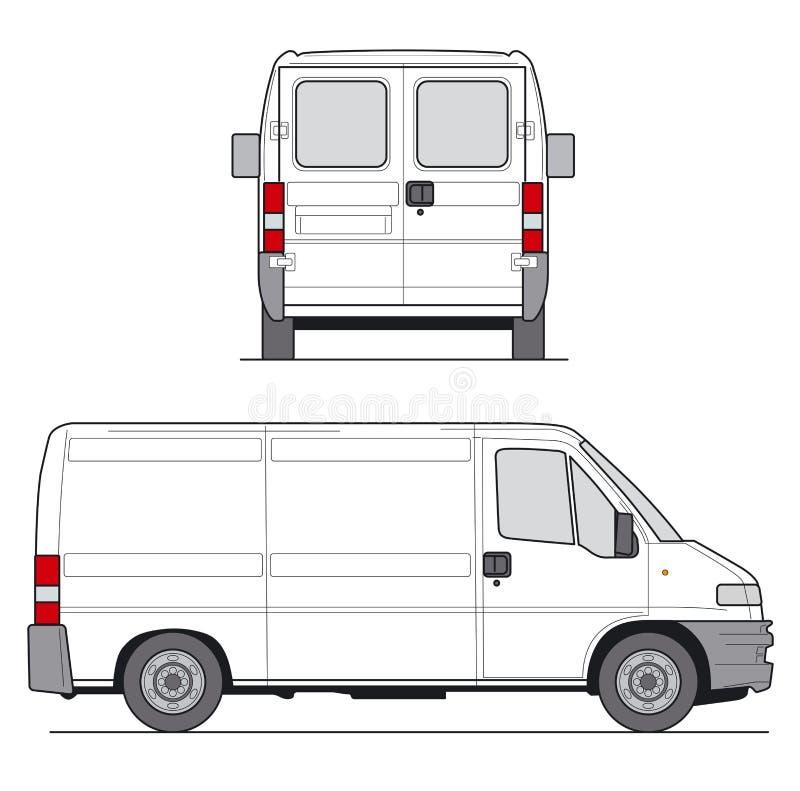 Entrega Van ilustração stock