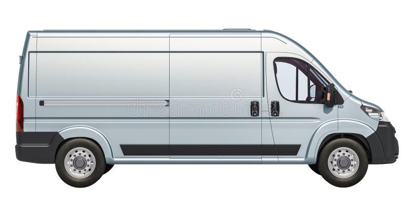 Entrega Van comercial, vista lateral representación 3d libre illustration