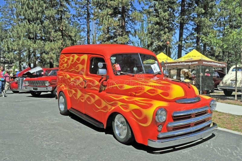 Entrega Van de Dodge fotografia de stock royalty free