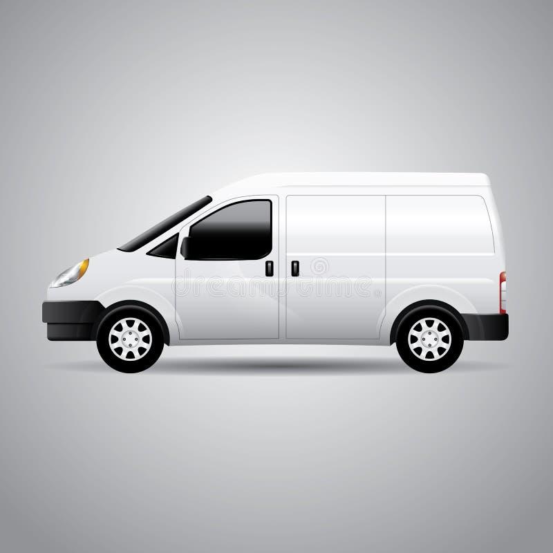 Entrega Van - ejemplo del vector stock de ilustración