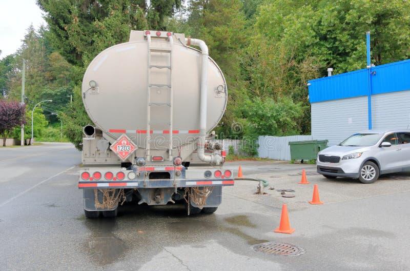 Entrega y símbolo del combustible de la gasolina imagenes de archivo