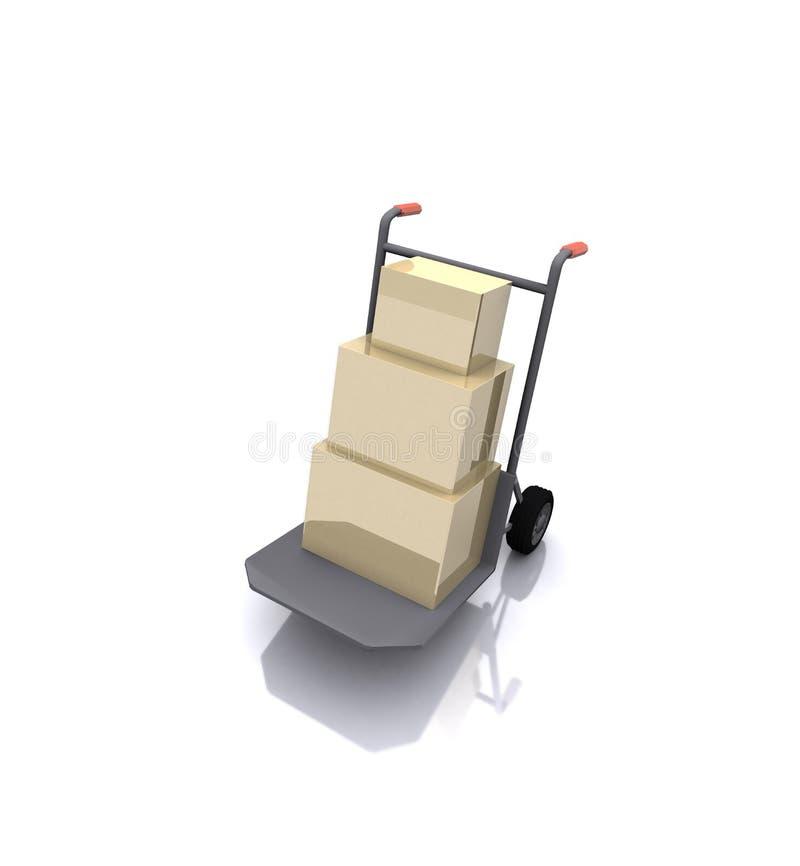Download Entregando a caixa ilustração stock. Ilustração de conveyance - 12803730