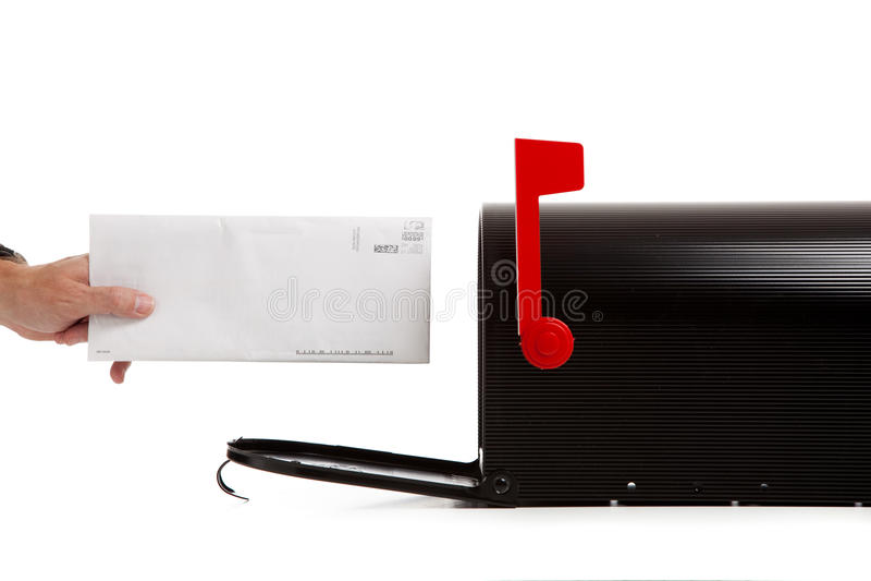 Entregando o recibiendo el correo fotos de archivo libres de regalías